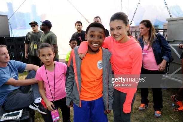 Actors Breanna Yde Curtis Harris and Amber Montana attend Nickelodeon's 10th Annual Worldwide Day of Play in Brooklyn's Prospect Park at Prospect...