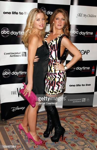 Actors Bree Williamson and Beth Ann Bonner attend the 4th Annual ABC Daytime Salutes Broadway Cares / Equity Fights Aids Benefit at the Marriott...