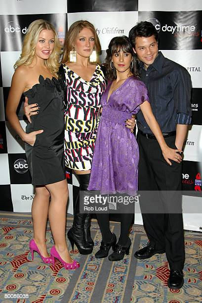Actors Bree Williamson BethAnn Bonner Kimberly McCullough and Jason Tam arrive at the 4th Annual ABC Daytime Salutes Broadway Cares / Equity Fights...