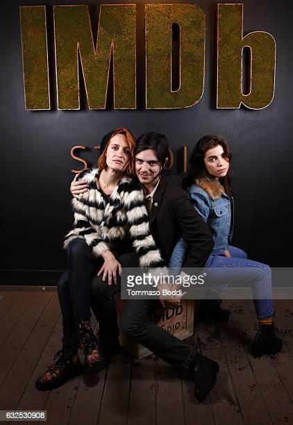 Actors Breeda Wool Morgan Krantz and Angela Trimbur of XX attend The IMDb Studio featuring the Filmmaker Discovery Lounge presented by Amazon Video...