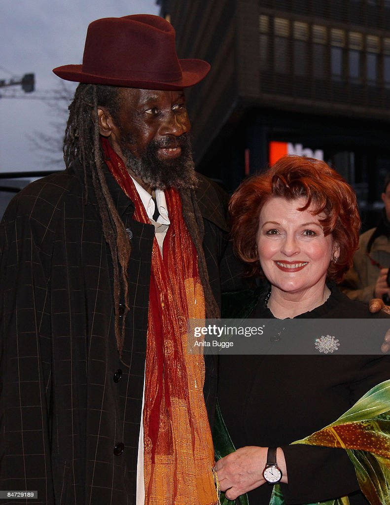 Actors Brenda Blethyn (R) and Sotigui Kouyate attend the premiere for 'London River' as part of the 59th Berlin Film Festival at the Grand Hyatt Hotel on February 10, 2009 in Berlin, Germany.