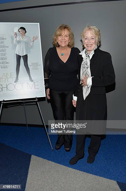 Actors Brenda Vaccaro and Holland Taylor attend a screening of the film Elaine Stritch Shoot Me on March 5 2014 in Los Angeles California