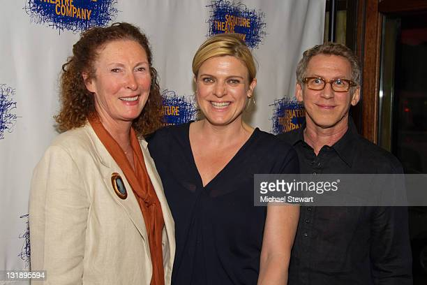 Actors Brenda Wehle Molly Price and Stephen Spinella attend the opening night party for Tony Kushner's The Illusion at the West Bank Cafe on June 5...