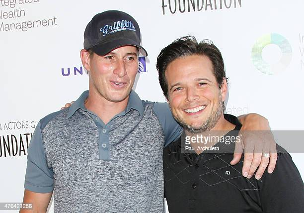 Actors Brendan Fehr and Scott Wolf Reali attends the SAG Foundation's 6th annual Los Angeles Golf Classic on June 8 2015 in Burbank California