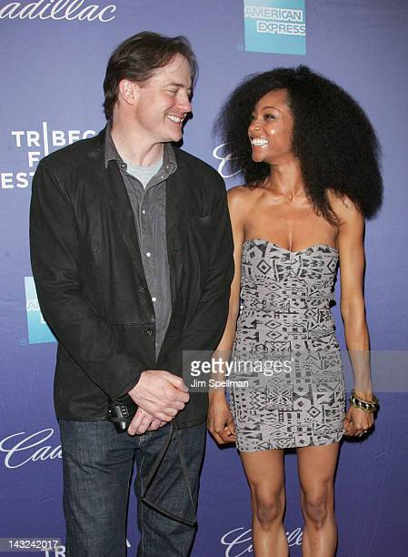 Actors Brendan Fraser and Yaya DaCosta attend the premiere of Whole Lotta Sole during the 2012 Tribeca Film Festival at BMCC Tribeca PAC on April 21...