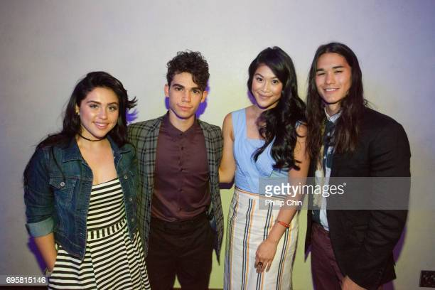 Actors Brenna D'Amico Cameron Boyce Dianne Doan and Booboo Stewart particpate in the Master Class with 'Descendants 2' cast and crew during the 2017...