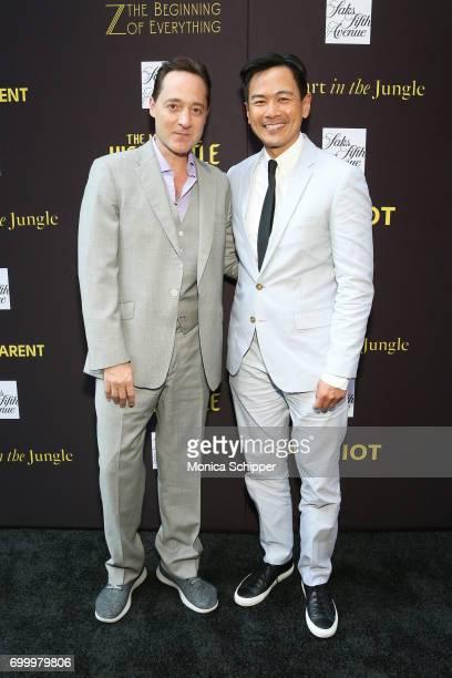 Actors Brennan Brown and Joel de la Fuente attend as SAKS FIFTH AVENUE celebrates potential EMMY nominees on June 22 2017 in New York City