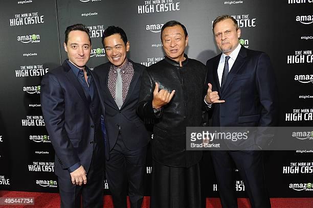 Actors Brennan Brown Joel de la Fuente CaryHiroyuki Tagawa and Carsten Norgaard attend the New York premiere of Amazon Original's Man In The High...
