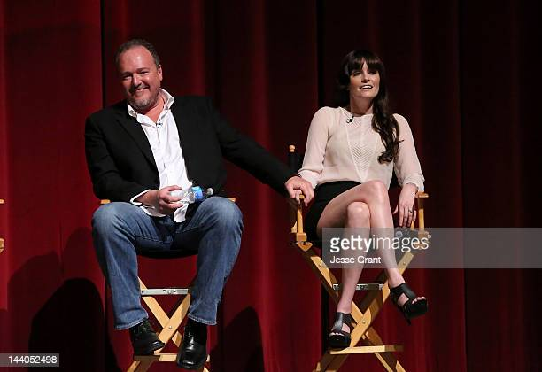 Actors Brent Sexton and Jamie Anne Allman attend 'The Killing' ATAS Screening and Panel at the Leonard H Goldenson Theatre on May 8 2012 in North...