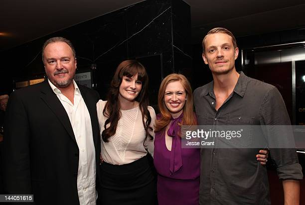Actors Brent Sexton Jamie Anne Allman Mireille Enos and Joel Kinnaman attend 'The Killing' ATAS Screening and Panel at the Leonard H Goldenson...