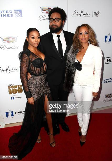 Actors Bresha Webb Diallo Riddle and Essence Atkins attend Ebony Magazine's Ebony's Power 100 Gala at The Beverly Hilton Hotel on December 1 2017 in...