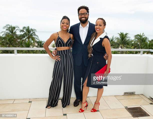 Actors Bresha Webb Diallo Riddle and Essence Atkins pose for a portrait at the 22nd Annual American Black Film Festival at the Loews Miami Beach...