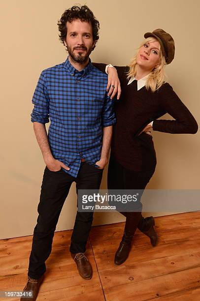 Actors Bret McKenzie and Georgia King pose for a portrait during the 2013 Sundance Film Festival at the Getty Images Portrait Studio at Village at...