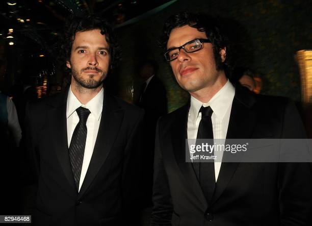 Actors Bret McKenzie and Jemaine Clement attend HBO's Post Award Reception after the 60th Primetime Emmy Awards at the Pacific Design Center on...