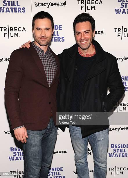 Actors Brett Dalton and Reid Scott attend the 'Besides Still Waters' New York premiere at Sunshine Landmark on November 9 2014 in New York City