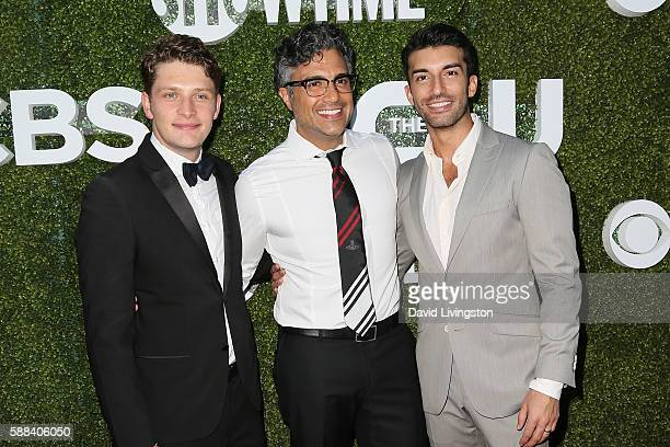 Actors Brett Dier Jaime Camil and Justin Baldoni arrive at the CBS CW Showtime Summer TCA Party at the Pacific Design Center on August 10 2016 in...