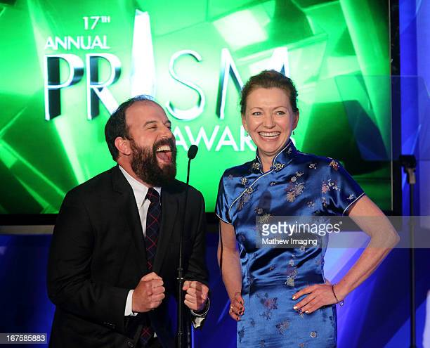Actors Brett Gelman and Julie White attend the 17th Annual PRISM Awards at the Beverly Hills Hotel on April 25, 2013 in Beverly Hills, California.