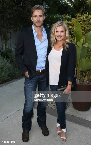 Actors Brett Tucker and Eliza Taylor attend the media launch for the new Australian Theatre Company and it's first production 'Holding the Man' at...