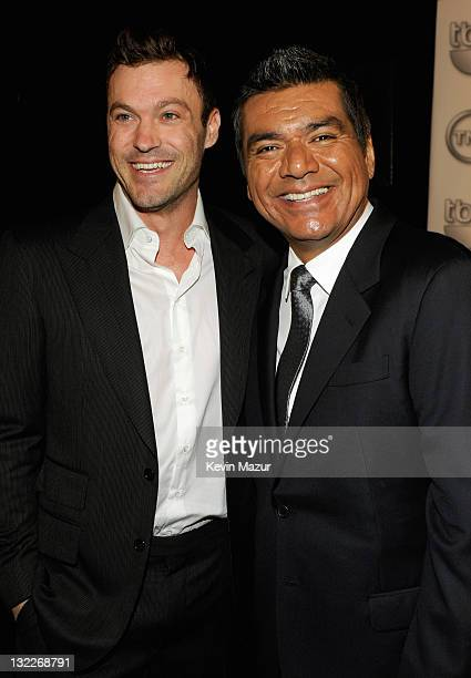 Actors Brian Austin Green and George Lopez attend the TEN Upfront 2011 at Hammerstein Ballroom on May 18 2011 in New York City 21147_005_KM_0073JPG