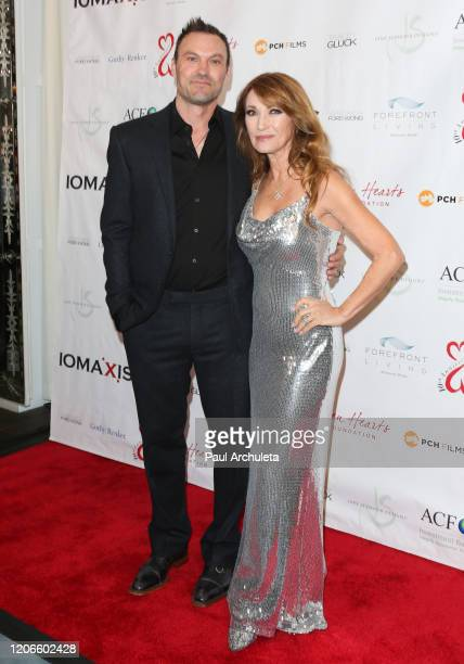Actors Brian Austin Green and Jane Seymour attend the Open Hearts Foundation 10th Anniversary Gala at SLS Hotel at Beverly Hills on February 15, 2020...