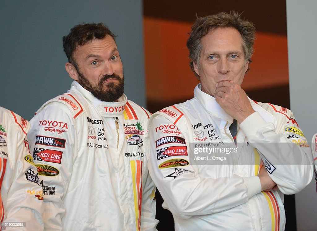 Actors Brian Austin Green and William Fichtner at the 42nd Toyota Grand Prix Of Long Beach - Press Day on April 5, 2016 in Long Beach, California.