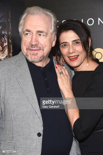 Actors Brian Cox and Hiam Abbass attend the 'Succession' New York premiere at Time Warner Center on May 22 2018 in New York City