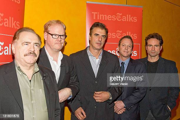 Actors Brian Cox Jim Gaffigan Chris Noth Kiefer Sutherland and Jason Patric attend TimesTalks A Conversation with the Champion Acting Ensemble at The...