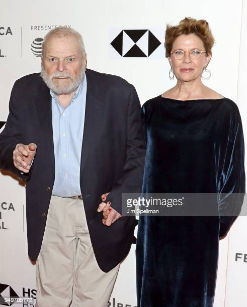 Actors Brian Dennehy and Annette Bening attend the premiere of The Seagull during the 2018 Tribeca Film Festival at BMCC Tribeca PAC on April 21 2018...