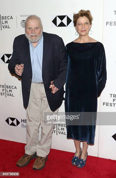 "Actors Brian Dennehy and Annette Bening attend the premiere of ""The Seagull"" during the 2018 Tribeca Film Festival at BMCC Tribeca PAC on April 21,..."