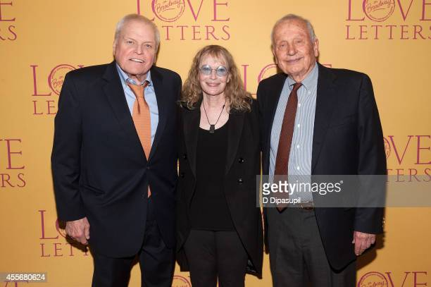 "Actors Brian Dennehy, Mia Farrow, and playwright A. R. Gurney attend ""Love Letters"" Broadway Opening Night after party at Brasserie 8 1/2 on..."
