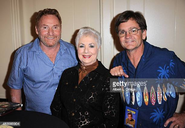 Actors Brian Forster Shirley Jones and Danny Bonaduce on day 1 of The Hollywood Show held at The Westin Hotel LAX on August 1 2015 in Los Angeles...