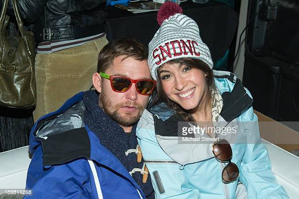 Actors Brian Geraghty and Kate Voegele attend Paige Hospitality Game Watch at Sky Bar on January 20 2013 in Park City Utah