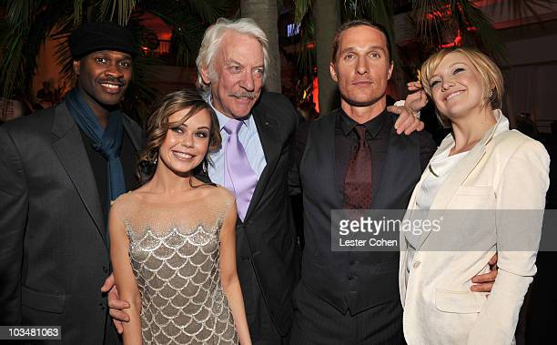 Actors Brian Hooks Alexis Dziena Donald Sutherland Matthew McConaughey and Kate Hudson attend the After Party of Fool's Gold at Grauman's Chinese...