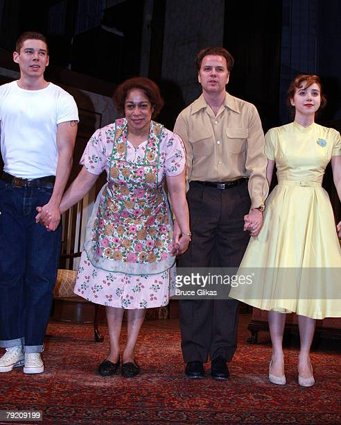 "Actors Brian J. Smith, S. Epatha Merkerson, Kevin Anderson and Zoe Kazan bow at The Opening Night Curtain Call or The Revival of ""Come Back, Little..."