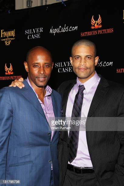 Actors Brian Keith Gamble and Chris Facey attend the Wrap Party for the film 'Silver Case' on January 15 2011 in West Hollywood California