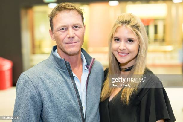 Actors Brian Krause and Brittany Underwood attend the Cast Premiere Screening Of Lany Entertainment's The Bay Season 3 at TCL Chinese Theatre on...