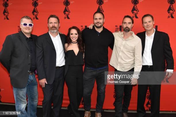 Actors Brian Landis Folkins, Ben Browder, Cheryl Texiera, Max Decker, Christopher Soren Kelly and Writer Director Matt Allen on the red carpet for...