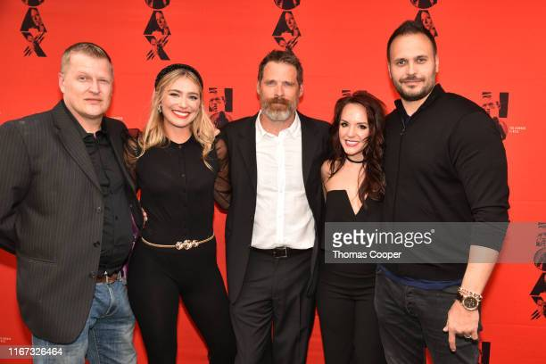 Actors Brian Landis Folkins, Shoshana Bush, Ben Browder, Cheryl Texiera, Max Decker and on the red carpet for the movie HOAX Premiere at Sie...