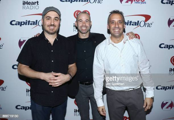 Actors Brian Quinn James Murray and Joseph Gatto attend the Z100's iHeartRadio Jingle Ball 2017 at Madison Square Garden on December 8 2017 in New...