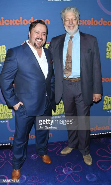 Actors Brian Ray Norris and Clancy Brown attend the 'Spongebob Squarepants' Broadway opening night after party at The Ziegfeld Ballroom on December 4...