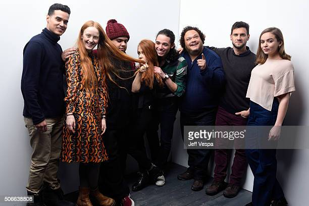 Actors Brian 'Sene' Marc India Menuez Ralph Rodriguez director Elizabeth Wood Anthony Ramos Adrian Martinez Justin Bartha and Morgan Saylor from the...