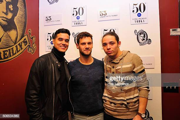 Actors Brian 'Sene' Marc Justin Bartha and Anthony Ramos attend The Official 'White Girl' After Party Presented By 50 Bleu Vodka At Rock Reilly's...