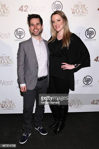 "Actors Brian Sills and Abby Mueller attend Disney's Musical Birthday Tribute to Stephen Sondheim in celebration of ""Into the Woods"" inhome release at..."