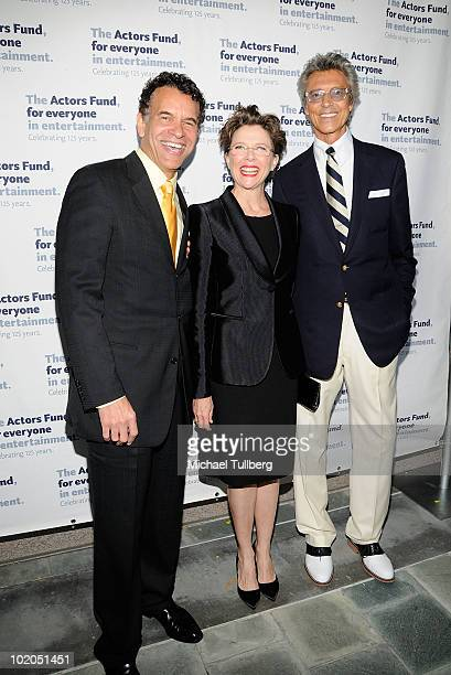 Actors Brian Stokes Mitchell Annette Bening and Tommy Tune arrive at the 14th Annual Actors Fund Tony Awards Party on June 13 2010 in Los Angeles...