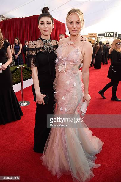Actors Briana and Kaley Cuoco attend The 23rd Annual Screen Actors Guild Awards at The Shrine Auditorium on January 29 2017 in Los Angeles California...