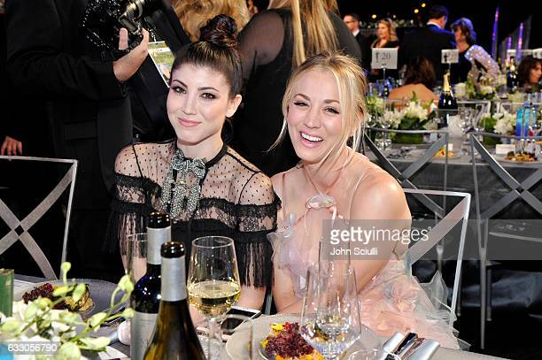 Actors Briana Cuoco and Kaley Cuoco attend The 23rd Annual Screen Actors Guild Awards Cocktail Reception at The Shrine Auditorium on January 29 2017...