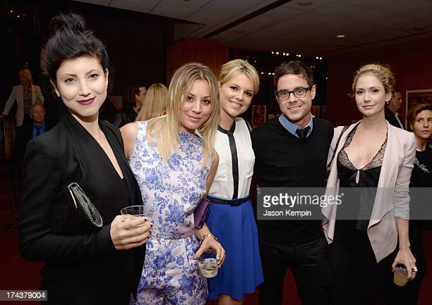 Actors Briana Kuoco Kaley Cuoco Ali Fedotowsky Kevin Manno and Ashley Jones attend the afterparty for the premiere of AFI Sony Picture Classics' Blue...