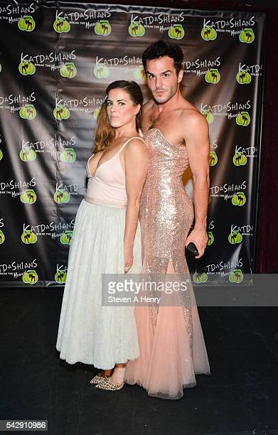Actors Bridget Kennedy and John Duff attend Katdashians Break the Musical OffBroadway Opening Night at Elektra Theatre on June 24 2016 in New York...