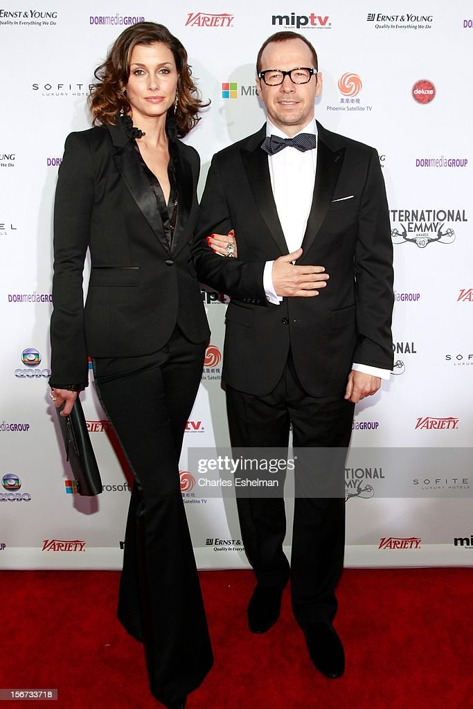 Actors Bridget Moynahan and Donnie Wahlberg attend the 40th International Emmy Awards at Mercury Ballroom at the New York Hilton on November 19, 2012 in New York City.