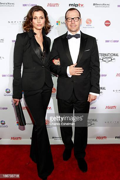Actors Bridget Moynahan and Donnie Wahlberg attend the 40th International Emmy Awards at Mercury Ballroom at the New York Hilton on November 19, 2012...